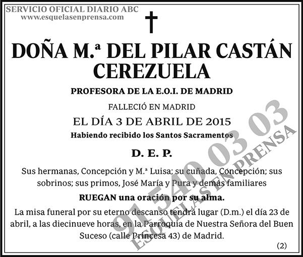 M.ª del Pilar Castán Cerezuela